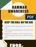 Grammar awareness