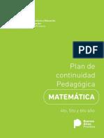 Plan de Continuidad Pedagogica Primaria Matematica 4to 5to y 6to Ano