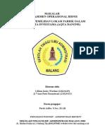 STRATEGI PEMILIHAN LOKASI PABRIK DALAM  PT. TIRTA INVESTAMA (AQUA DANONE)