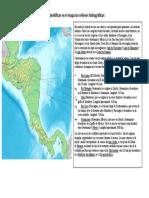 Elaborar el mapa de centro América identificar en el mapa los relieves hidrográficos