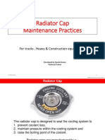 Radiator Caps Maintenance Practices for trucks and construction equipments