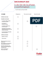 To-do List Phase de confirmation