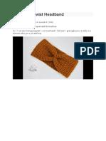 Crochet X twist head band