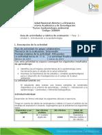 Guia de Actividades y Rúbrica de Evaluación- Fase 2. Introducción a La Epidemiología