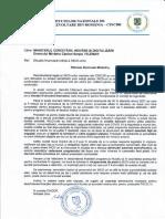 Scrisoarea Consiliului Institutelor de Cercetare către Ministerul Cercetării
