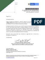 Comunicacion a La Cidh de Defensa Juridica Del Estado