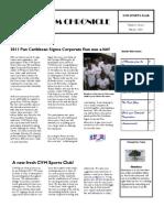 CVM Sportsclub Newsletter - Vol.1, March 1, 2011