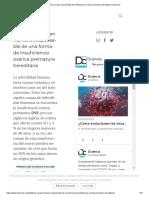 Identifican un gen responsable de insuficiencia ovárica prematura hereditaria _ Dciencia
