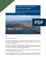 Le Franc CFA, la bouée de sauvetage de la France en Afrique