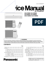 Panasonic CS-A7DKD CS-A9DKD CS-A12DKD Air Conditioners service manual FREE DOWNLOAD!