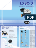 Catalogo Hidrometro NB AVS modelo LXSC-D