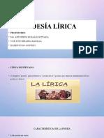 Presentación Lírica