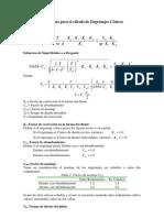 Ecuaciones para el c+ílculo de Engranajes C+¦nicos