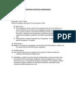 Segundo parcial SISTEMAS POLÍTICOS COMPARADOS 2019