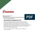 ¿Se Avecina La Industria 4.0_ › Cuba › Granma - Órgano Oficial Del PCC