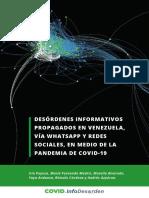 DESÓRDENES INFORMATIVOS PROPAGADOS EN VENEZUELA, VÍA WHATSAPP Y REDES SOCIALES, EN MEDIO DE LA PANDEMIA DE COVID-19