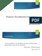 3. Técnicas e Procedimentos Terapêuticos