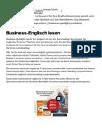 Business-Englisch- Lesen und Lernen mit Business Spotlight