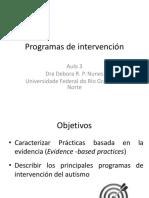 Argentina Aula 3 Programas de Intervencion