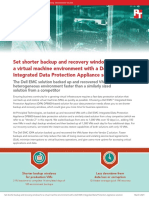 Set shorter backup and recovery windows for a virtual machine environment with a Dell EMC integrated Data Protection Appliance solution