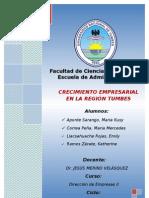 CRECIMIENTO EMPRESARIAL EN LA REGIÓN TUMBES - PERU