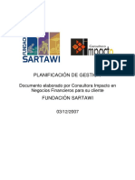 Plan de Gestion Sartawi
