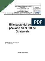 El impacto del sector pecuario en el PIB del país de Guatemala