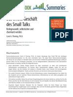 Das Ernste Geschäft Des Small Talks.
