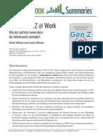Generation Z @ Work