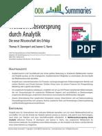 Wettbewerbsvorsprung Durch Analytik.