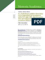 Valobra, Adriana María La Ciudadania Política Femenina en La Argentina...-1