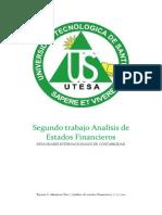 Trabajo 2 de Analisis de Estados Financieros
