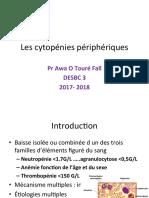 Les cytopénies périphériques