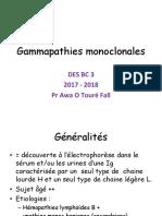 Gammapathies monoclonales