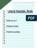 Linhas de Transmissão - Revisão