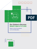 Our Children's Success-Manitoba's Future-Report of the Commission on K to 12 Education