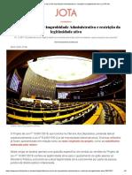 Alteração da Lei de Improbidade Administrativa e restrição da legitimidade ativa - Victor Aguiar