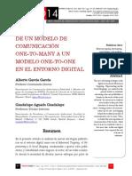 Icono14. A9/V1. De un modelo de comunicación one-to-many a un modelo one-to-one en el entorno digital