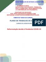 (32 99194-8972) PLANO DE TRABALHO DE ESTÁGIO CURSOS DE LICENCIATURA