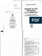 CAPITULO I - LIBRO CRIMENES DE LESA HUMANIDAD EN ARGENTINA