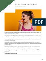 Dicas de Dieta Para Uma Vesícula Biliar Saudável