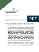 Respuesta Derecho de Peticion