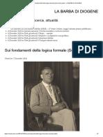 Sui fondamenti della logica formale (Seconda parte)