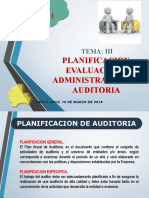 3. Tema III - Planificacion, Evaluacion y Administracion de Auditoria