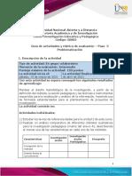 Guia de actividades y Rúbrica de evaluación - Paso 3 - Problematización