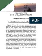 23 - LA VITA E' DISSOLUZIONE DI OGNI INDIVIDUALITA'