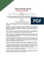 Ministerio de Defensa - Nuevo Decreto