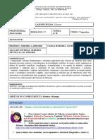 Roteiro de Estudos 9º Ano ( A e B) Vespertino Ensino Remoto - Semana(15/03/2021 a 19/032021)
