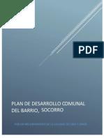 PLAN DESARROLLO BARRIO EL SOCORRO