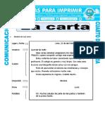 Ficha Que Es Una Carta Para Cuarto de Primaria